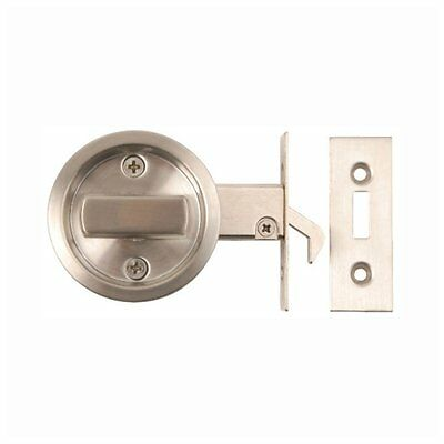 SLIDING DOOR LOCK Bathroom Hook Privacy Round Turn Toilet WC Stainless Steel