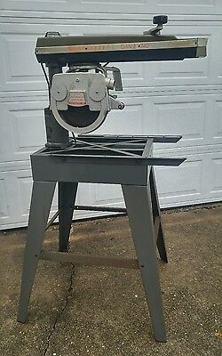 "Dewalt Radial Arm Saw Model 740 Powershop w/ Matching Base 10"" Blade, 2hp Motor"