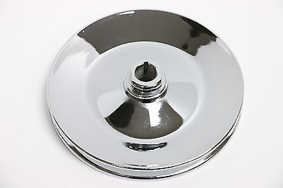 GM Chrome Single Groove Power Steering Pump Pulley Key Way SBC BBC Chevy 350 454