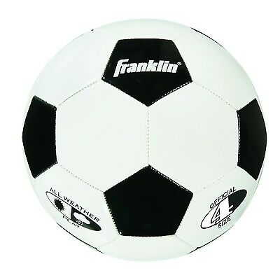 Franklin Sports Competition 100 Soccer Ball White/Black - Size 4