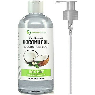 Fractionated Coconut Oil Skin Moisturizer Natural Carrier Oil Therapeutic Odo...