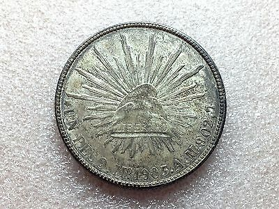 1903 Mo AM Mexico Cap & Rays UN Peso Nice Toning Great Condition