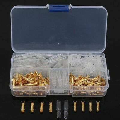 120pcs 3.5mm Motorcycle Brass Bullet Connector Terminal with Insulated Cover Box