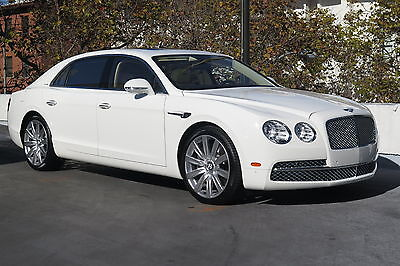 2015 Bentley Flying Spur in Glacier White with only 2,809 miles 2015 BENTLEY FLYING SPUR SEDAN IN GLACIER WHITE WITH MAGNOLIA LOW MILES