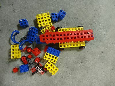 Lot of Rokenbok Rok Blocks from Deluxe Set Clean EUC 80 Pieces + Figure