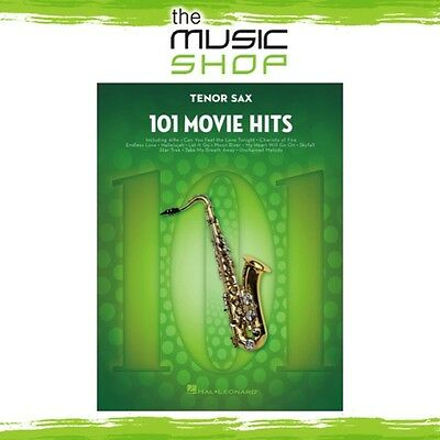 New 101 Movie Hits for Tenor Sax Music Book - Instrumental Solo Songbook