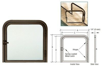 "Dark Bronze 11-3/8"" x 11-11/16"" Package Slot with Right Hinged Clear View Door"