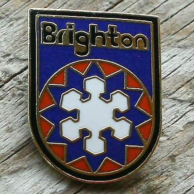 BRIGHTON Vintage Ski Pin UTAH Skiing UT MTB Travel FREE SHIPPING