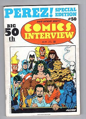 Comics Interview #50 Special Edition George Perez Avengers New Teen Titans 146pg