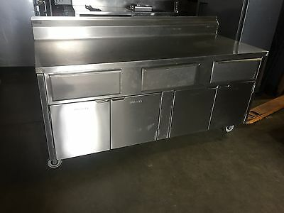 """Stainless Steel Cabinet Work Table, 72"""" x 30""""..."""