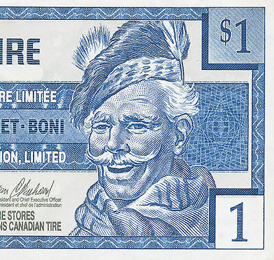 Canadian Tire Money Vintage 1996 $ 1 note  one dollar