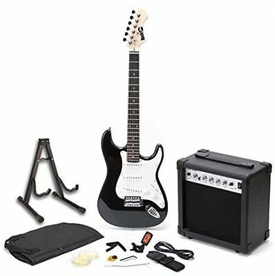 RockJam Full Size Electric Guitar SuperKit With 20 Watt Amp, Guitar Stand, And