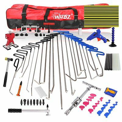 85x PDR Hail Remove Dent Puller Rods Kit Paintless Repair Hammer Tools & Wedge
