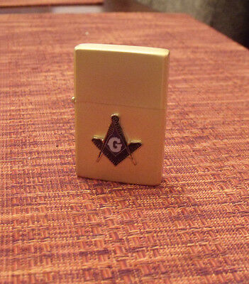 Masonic / Mason / Freemason Lighter - BRASS Finish - Square & Compass