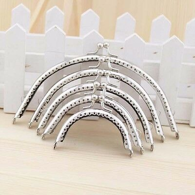 2 X Metal Coin Purse Arch Frame Wallet Bag Clasp Sewing DIY 6.5cm-18cm Silver