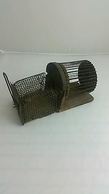 Antique 19th Century Wheel of Death Spinning Mouse Trap Folk Art