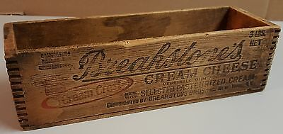 3 Vintage Breakstone's Cream Cheese Wood Box Crate Graphics Advertising New York