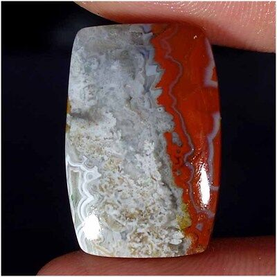 17.05Cts 100% NATURAL DESIGNER CRAZY LACE AGATE CUSHION CABOCHON LOOSE GEMSTONES