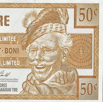 Canadian Tire Money 2006 note  50 cent
