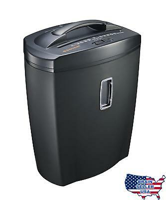 Bonsaii DocShred C156-C 8-Sheet Micro-Cut Paper/CD/Credit Card Shredder, Overloa