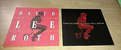 2 David Lee Roth A Little Aint Enough Double Sided Promo Poster Flats 12x12