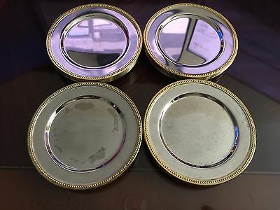 18 Silver And Gold Plated 4 Inch Coasters