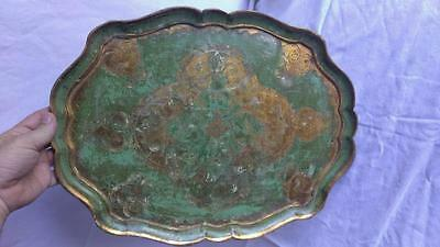 Old Vintage Wood Wooden Chic Florentine Florentina Italian Shabby Serving Tray