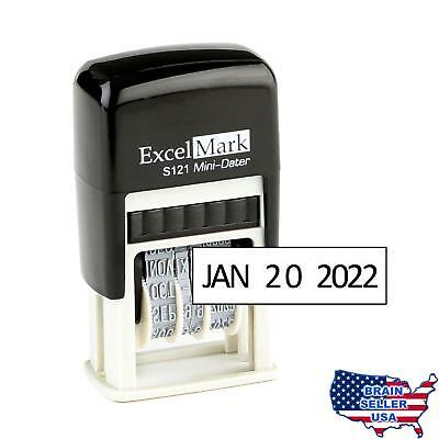 ExcelMark Self-Inking Date Stamp – S121 (Black Ink), New, Free Ship