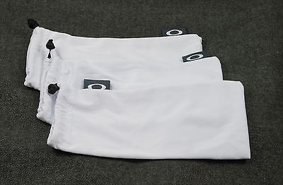 Oakley 3 Pack - White Micro Fiber Cloth Sunglasses Cleaning Storage Bags