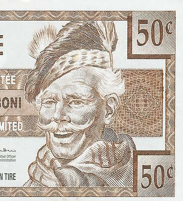 Canadian Tire Money 2013  note  50 cent