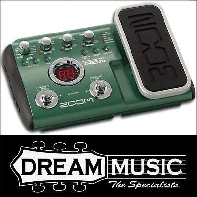 Zoom A2.1u Acoustic Guitar Multi FX Floorboard Effects Pedal Unit RRP$299