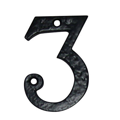 Number 3 House Number Black Wrought Iron 4H | Renovators Supply