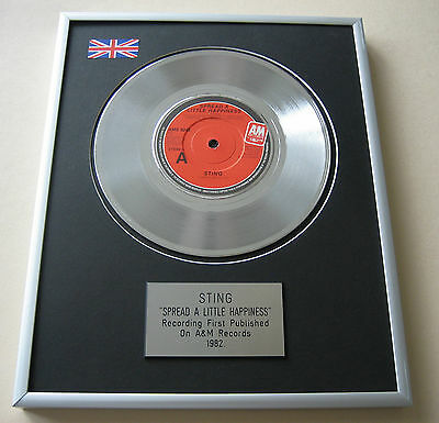 The Police STING Spread A Little Happiness PLATINUM Single DISC PRESENTATION