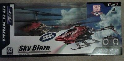 Silverlit Sky Blaze 3-Channel Radio Control Gyro Helicopter with Special Effects