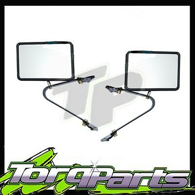 Door Mirrors Suit Toyota Landcruiser 75 78 Series Ute Style Side Rear Vision