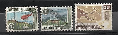 1973 Papua & New Guinea - Telecommunications x 3 ( 2 x 7c + 30c fv) stamps Used