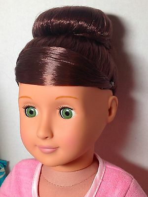 """Our Generation Sydney Lee 18"""" Doll fits American Girl Brown Hair Green Eyes"""