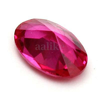 4x6mm Beautiful Oval Rich Red Ruby Mozambique Loose Gemstone Gem Stone Jewellery