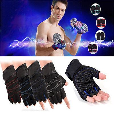 Gym Gloves Workout Wrist Wrap Sports Exercise Training Fitness Weight Lifting