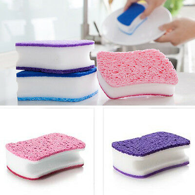 Dish Washing Sponge Cleaning Cloth Gadget Brush Kitchen Home Cleaner Tool Magic