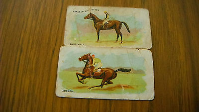 CIGARETTE CARDS x 2 MELBOURNE CUP WINNERS 1906 (WILLS)