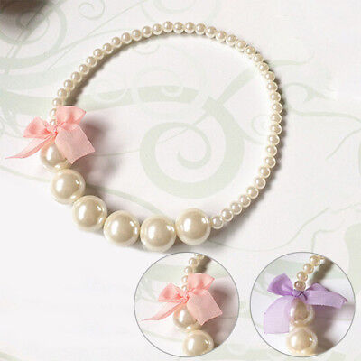 Children Party Jewelry Princess Girls Imitation Pearls Necklace For Baby Toddler
