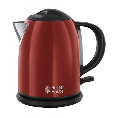Russel Hobbs Colours Flame Red Kompakt Wasserkocher (2.200 Watt) 20191-70