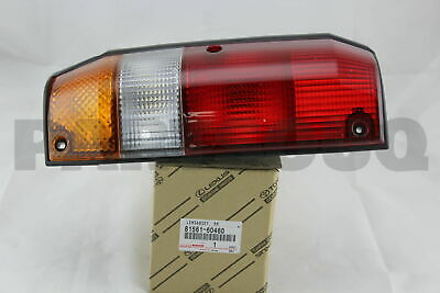 8156160460 Genuine Toyota LENS, REAR COMBINATION LAMP, LH 81561-60460