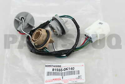 815550K140 Toyota SOCKET & WIRE SUB-ASSY, REAR COMBINATION LAMP, RH/LH