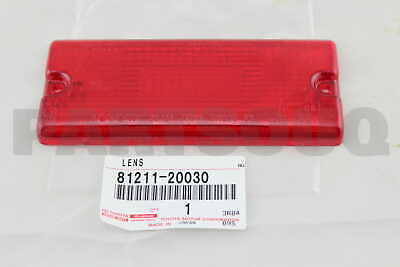 8121120030 Genuine Toyota LENS, REAR FOG LAMP 81211-20030