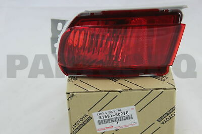 8159160270 Genuine Toyota LENS AND BODY, REAR FOG LAMP, LH 81591-60270