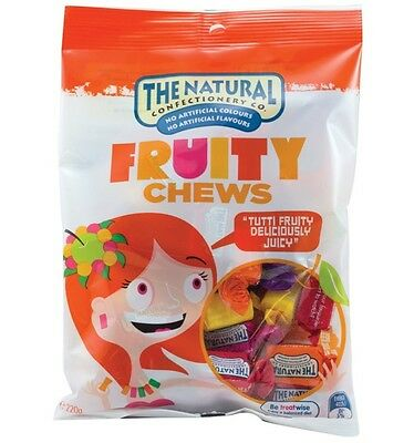 The Natural Confectionery Co. Fruit Chews 220g x 10