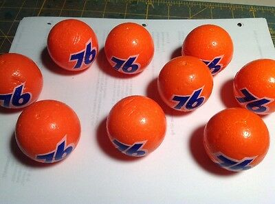 76 antenna ball orange with white outline and blue numbers NEW