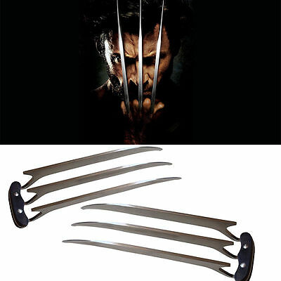 """11"""" X-Men Wolverine Blade Claws Stainless Steel Cosplay Refinement Props"""